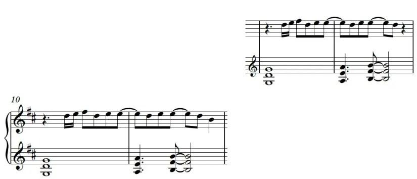 Euphoria Piano Sheet Music - Verse - Hard Version