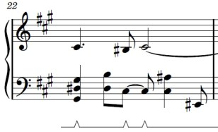 Wii Theme Piano Sheet Music - Last Line - First Bar - G#sus