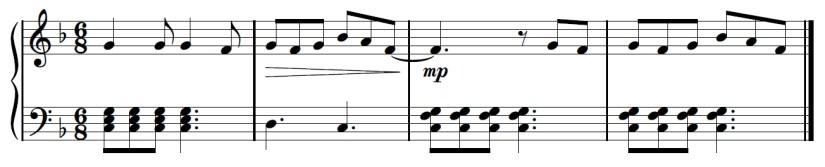 Yuri On Ice Piano Sheet Music - Second Last Line - C Chord