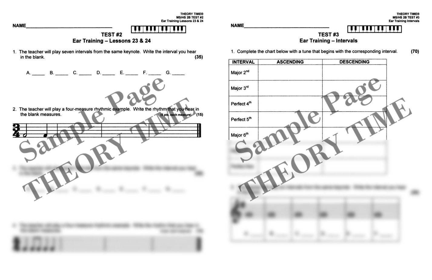 Theory Time® Reproducible Series: Test Pack Middle School