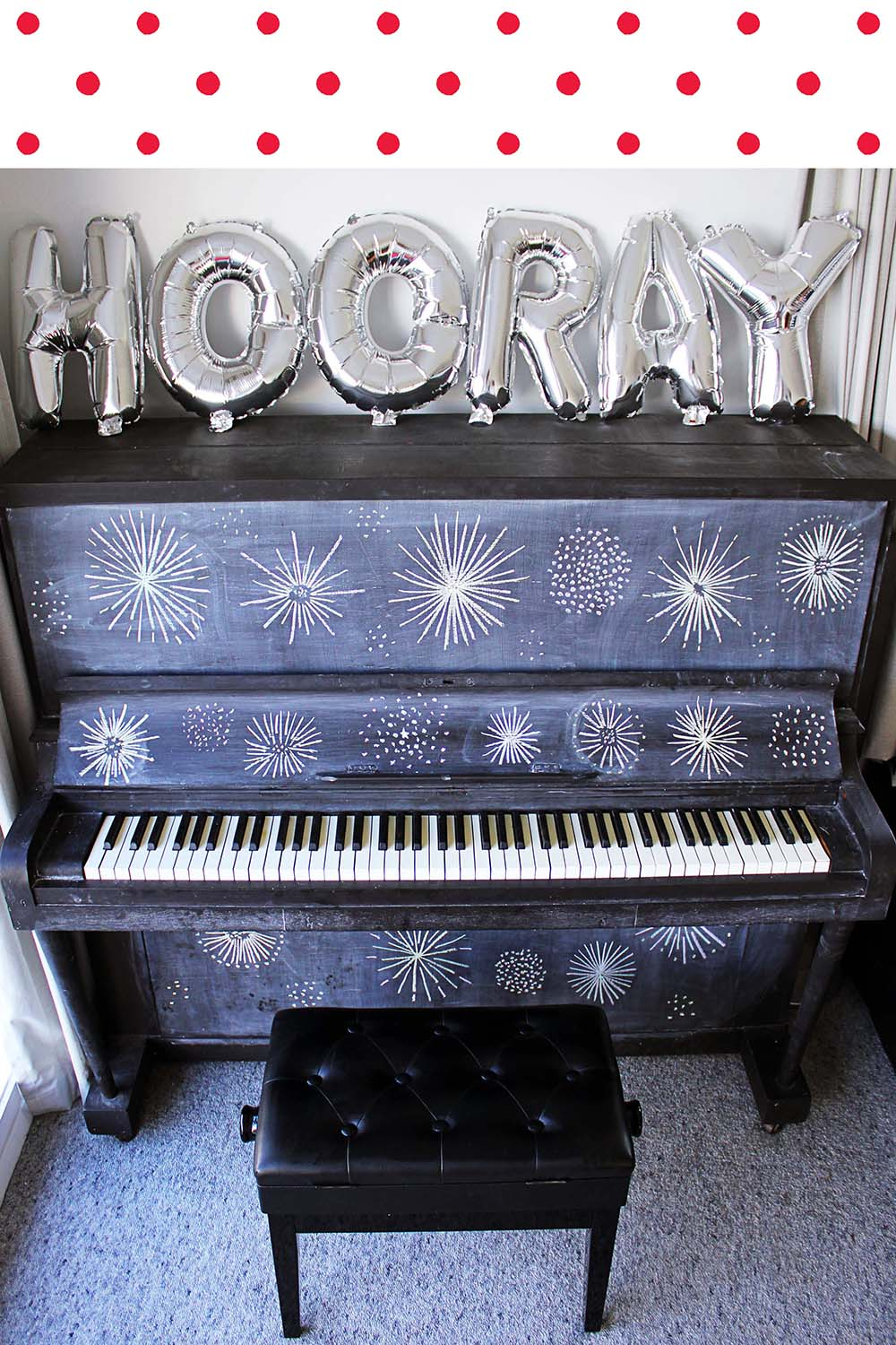 Chalkboard Painted Piano