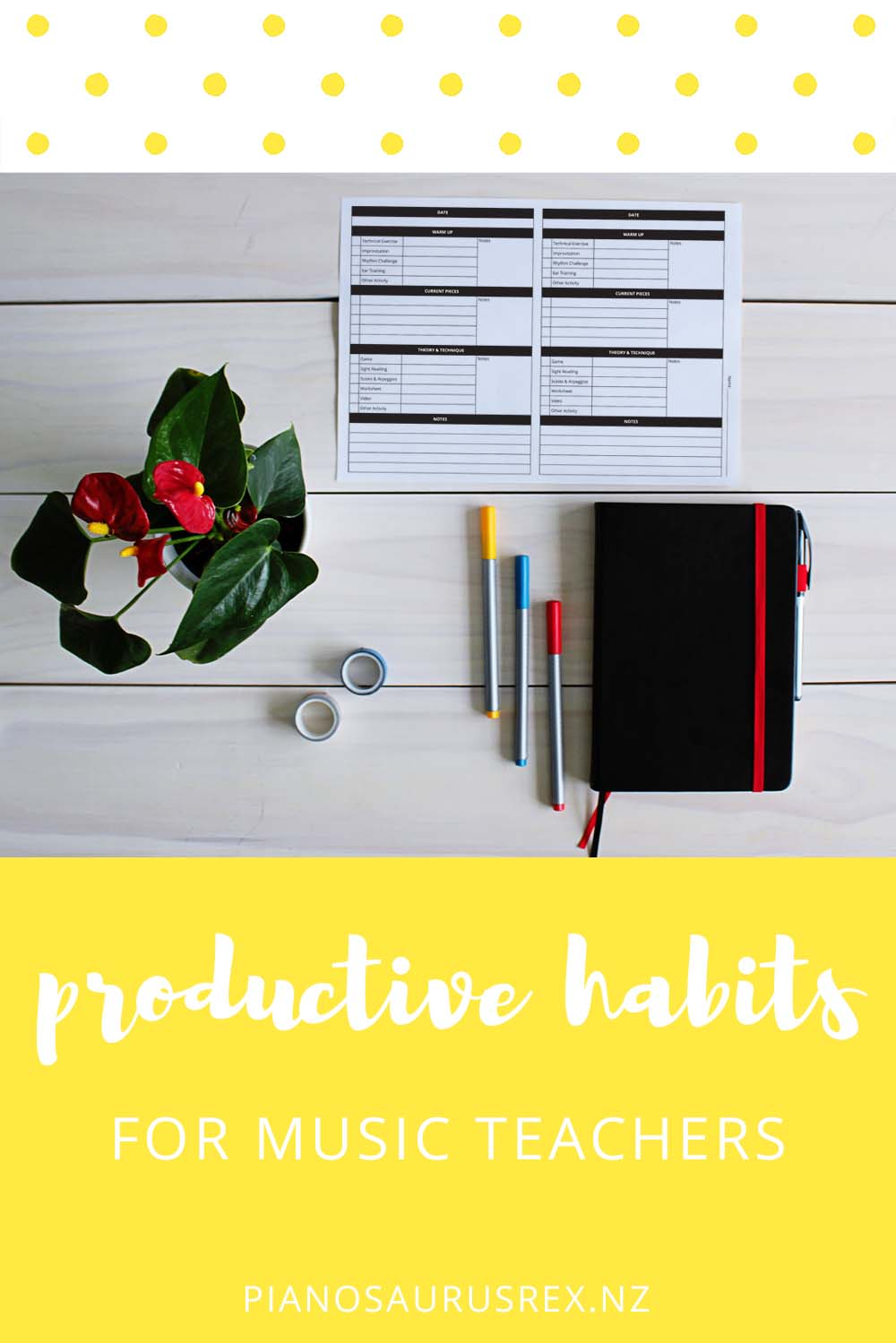 Habits for Music Teachers