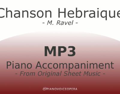 PianoVoiceOpera Chanson Hebraique Piano Accompaniment