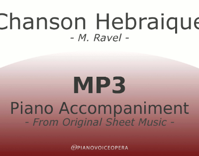 PianoVoiceOpera Chanson Hebraique Piano Accompaniment