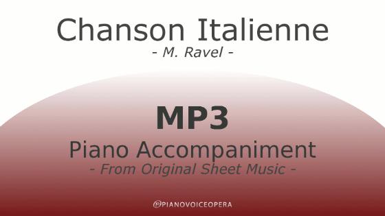 PianoVoiceOpera Chanson Italienne Piano Accompaniment