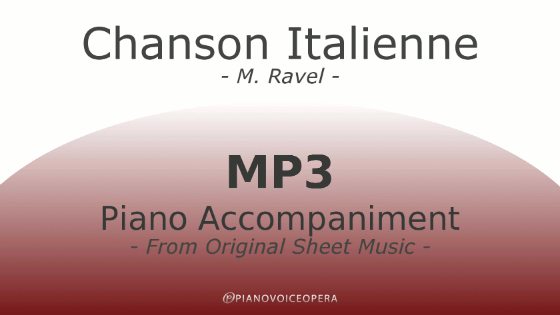 PianoVoiceOpera Chanson Italienne Piano Accompaniment