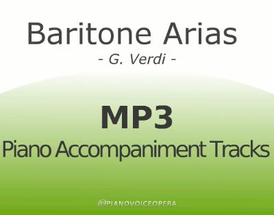 Baritone arias by Verdi