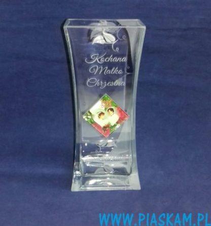 wazon grawerowany +nadruk zdjęcie