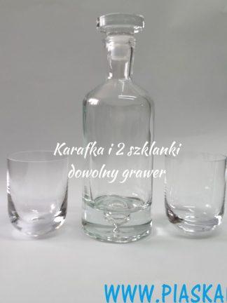 karafka butelkowa 2 szklanki grawer