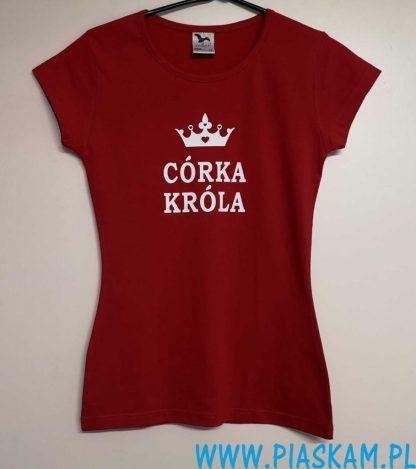 koszulka czerwona córka Króla