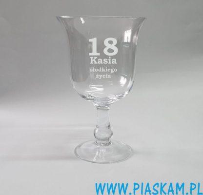 puchar kielich szklany grawer 18