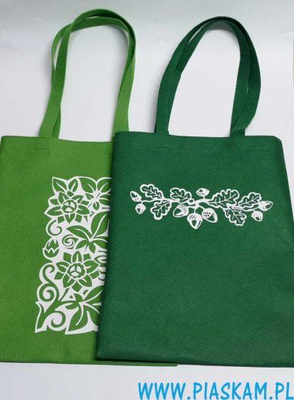 torba nadruk motyw roślinny