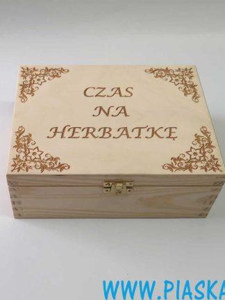 herbaciarka skrzynka pudełko grawer