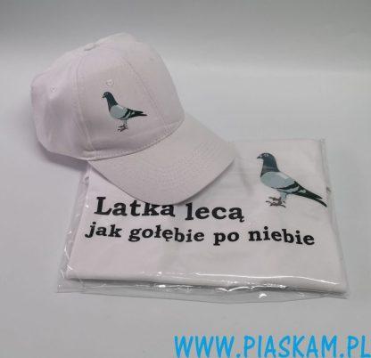 koszulka czapka gołąb