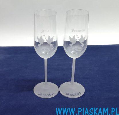 szampanowki kieliszki grawer ślub