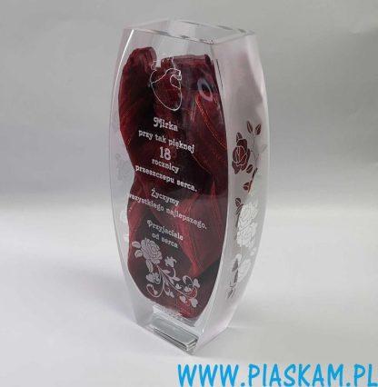 wazon piaskowane boki róże h31