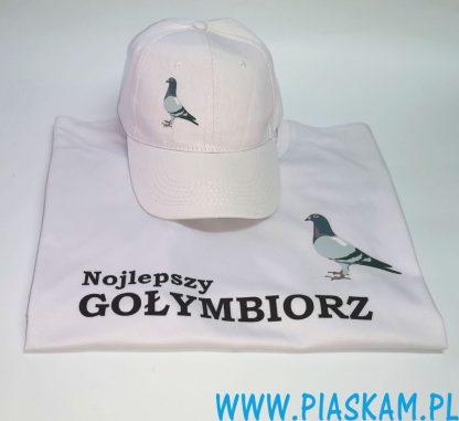 koszulka i czapka najlepszy gołymbiorz gołąb nadruk