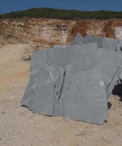 Piatra poligonala ardezie gri-placi mari