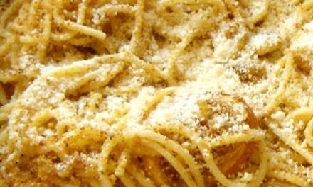 Spaghetti in teglia