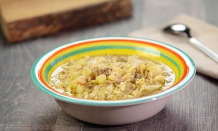 Zuppa di verza gratinata al verdello