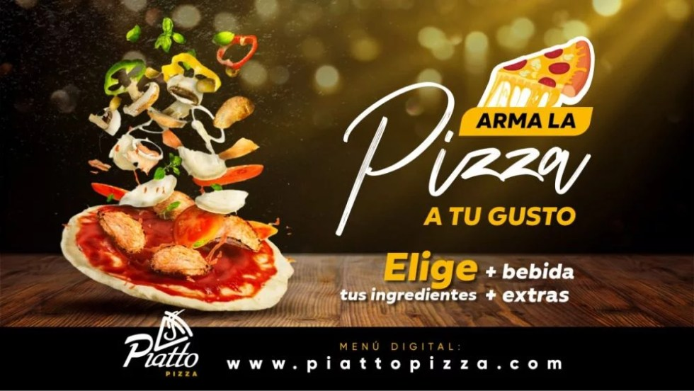 Arma la pizza a tu gusto en Piatto Pizza