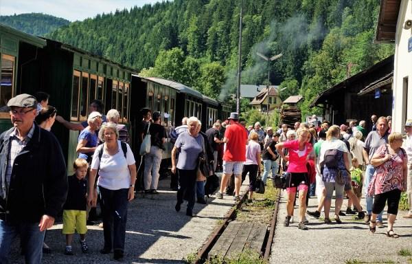 Gäste Dampflokfahrt in Lunz 2