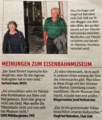 NÖN 11.10.2017 Museum Meinungen