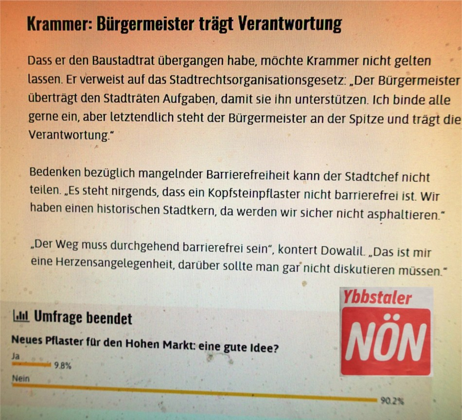Pflaster - Umfrage NÖN 11.6.2018