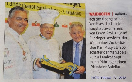 NÖN Ybbstal Mehlspeiskultur Pühringer 7.7.2015