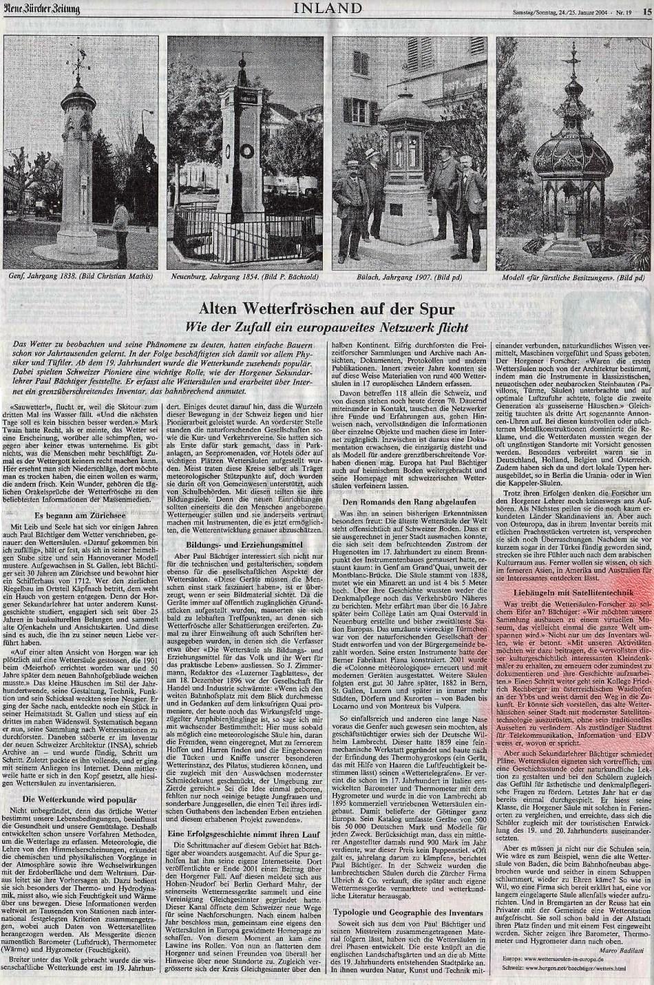 Artikel Schweiz Rechberger Wetterhäuschen (2)