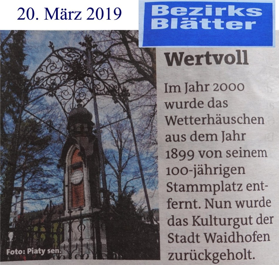 Wetterhaus Bezirksblätter logo