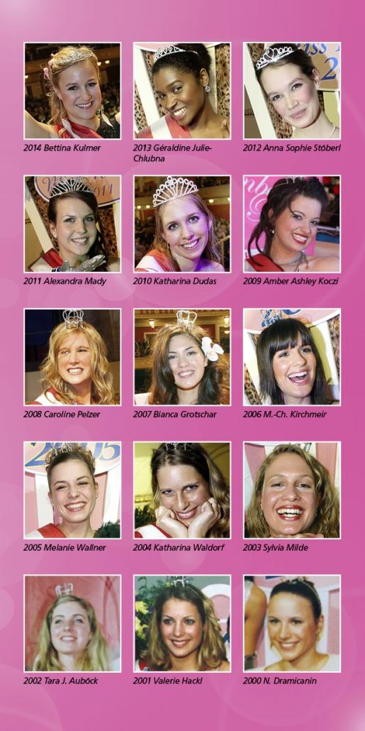 Missen Bonbonball 2001 Valerie Hackl