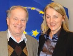 Piaty und Mep Regner nahe EU Diskussion Haus Europa 24.1.2013