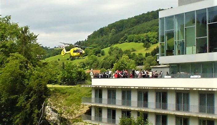 Pröll Hubschrauber nahe