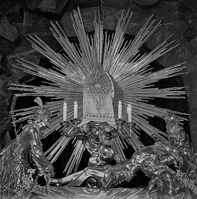 Heiliges Grab schwarz weiß