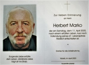 Marko Totenbildl Aufbahrung 22.4.2020