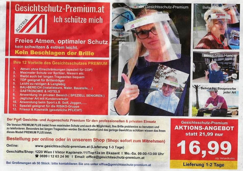 Visiere - Österreich 23. April 2020