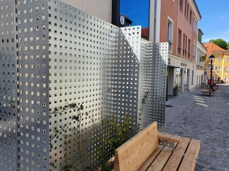 Stahlkante Sitzbank 1