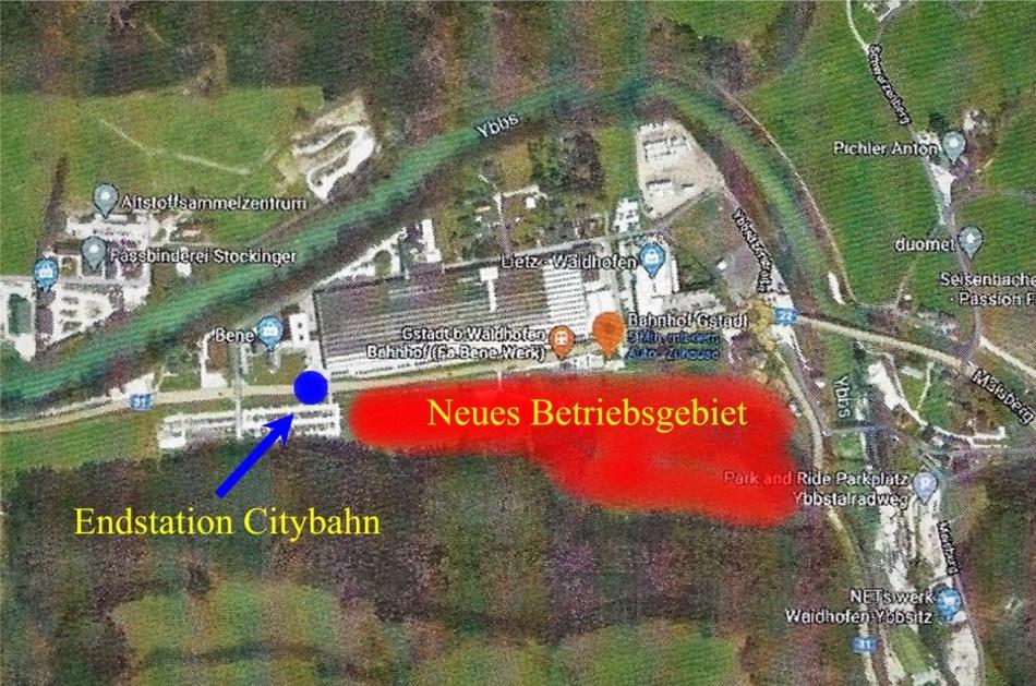 Situation Gstadt Betriebsgebiet