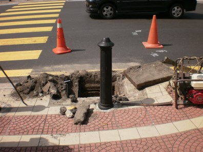 Manhole inside