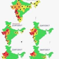 Weather Warning – 20 to 24 July, 2017 -Karnataka to Witness Heavy Rains