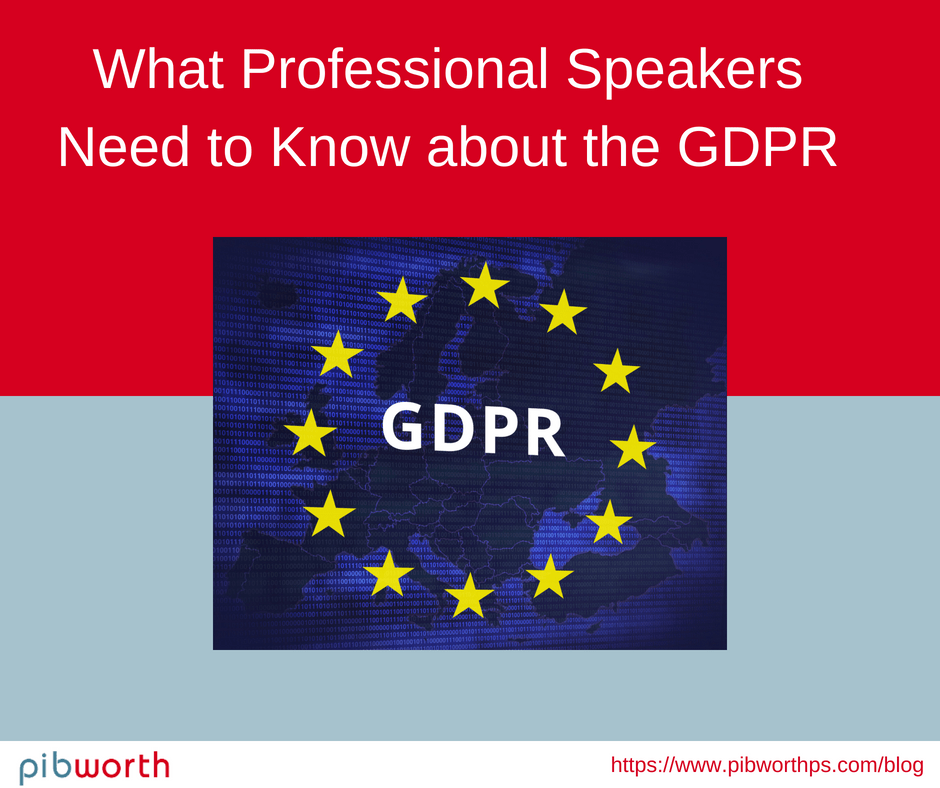 WGDPR What Professional Speakers need to know