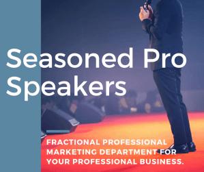 Seasoned pro Speakers