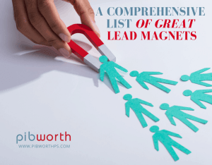 Comprehensive List of Great Lead Magnets