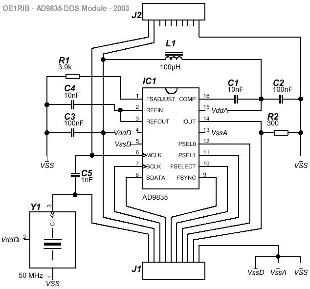 A DDS Module based on the AD9835 using PIC16F84