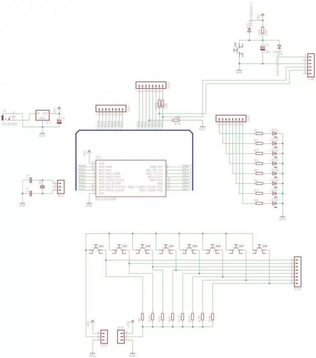 18 pin PIC Development Board using PIC16F62