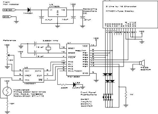 A PIC-Based Temperature Alarm using PIC16C84