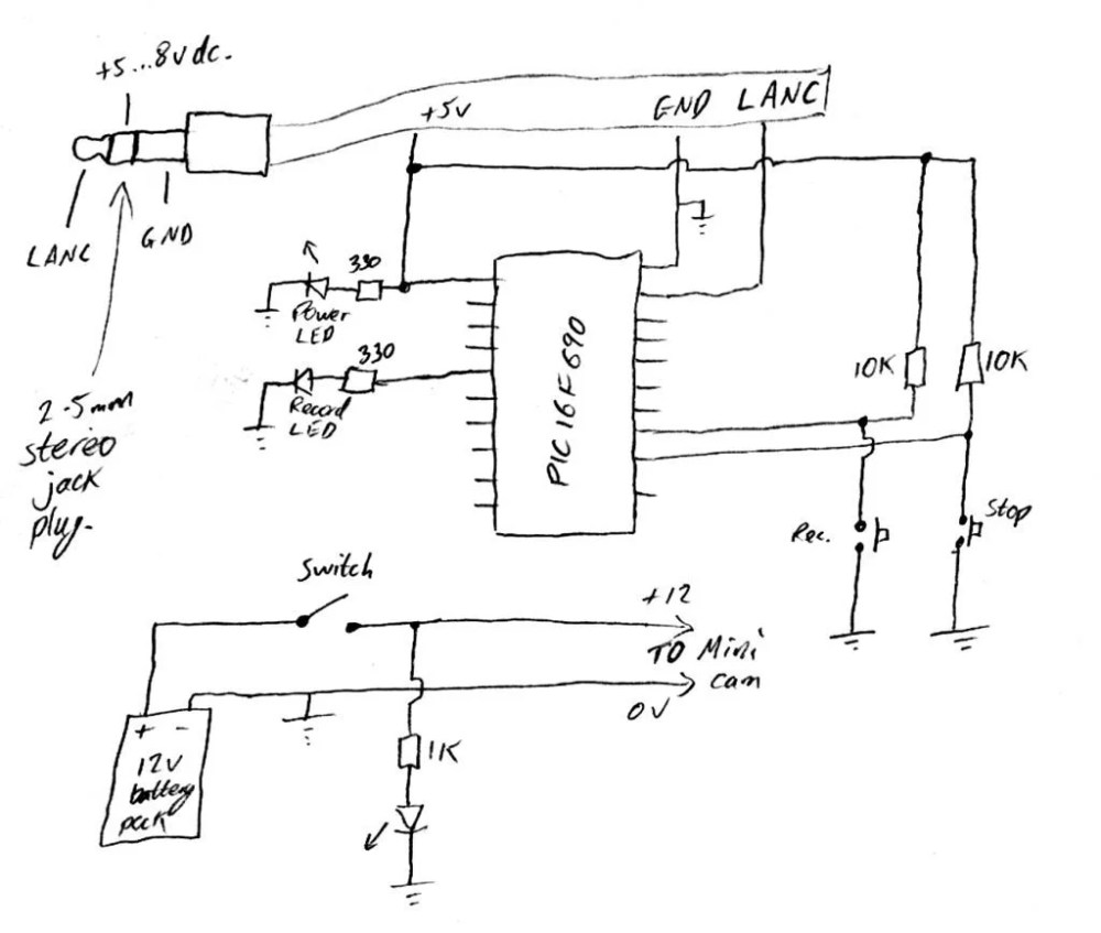 medium resolution of circuit diagram video camera schema wiring diagramcheap pic controlled helmet camera using sony lanc good