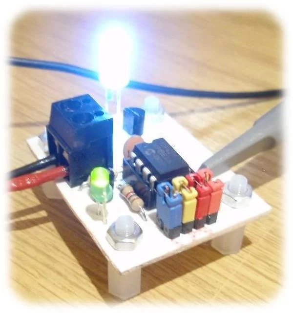 led strobe light circuit diagram chess piece moves for pic12f629