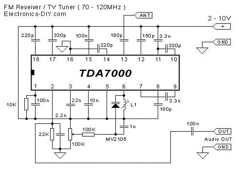 Wiring Diagrams Guitar Effects Pedals Tda7000 Fm Receiver Tv Tuner Aircraft Receiver Using